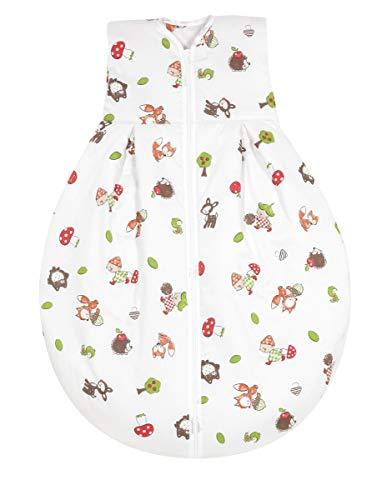 Alvi Kugelschlafsack Molton | Alvi Sommerschlafsack | Babyschlafsack ärmellos 100% Baumwolle | Unwattierter Alvi Außensack | Leichter Baumwoll-Schlafsack
