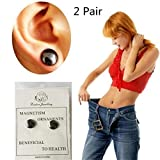Kuulee 1 Pair Bio Magnetic Healthcare Earring Weight Loss Earrings Slimming Ear Healthy Stimulating Acupoints Stud Magnetic Therapy