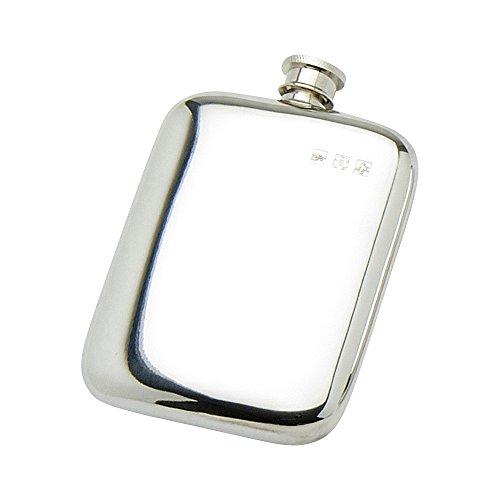 Edwin Blyde & Co Schlichtes Pocket Design mit Touch Marks und weichem Ecke Form Spirit Fläschchen, Zinn, 6oz