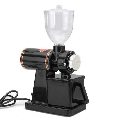 Anciun Elektrische Kaffeemühle, Scheibenmahlwerk Kaffee Mahlwerk Verstellbarer Mahlgrad mit Klinge Edelstahl Trichterkapazität 250 g, Schwarz