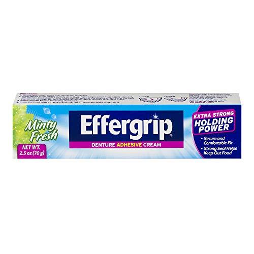 Effergrip Denture Adhesive Cream, Extra Strong Holding...