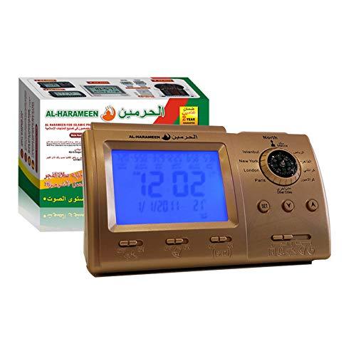 LCD islamitische Azan klok met Qibla kompas HA-3005, Ramadan islamitische geschenken Azan gebed wekker, huis/kantoor/moskee tafel klok