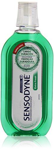 Sensodyne Extra Fresh Enjuague Bucal Sin Alcohol, Fortalece los Dientes y Alivia la Sensibilidad Dental, Protección de Larga Duración, 500 ml