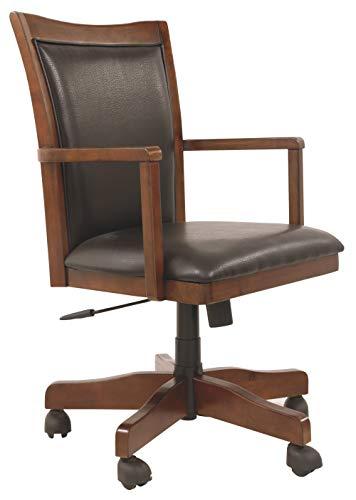 Signature Design by Ashley Hamlyn Home Office Swivel Desk Chair Medium Brown