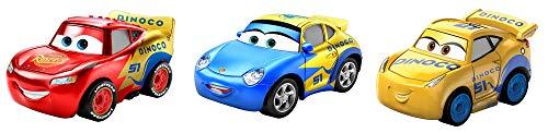 Disney Cars GKG01 - Disney Pixar Cars Mini-Racers 3er-Pack Sortiment, kompakt, authentisch