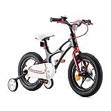 RoyalBaby Bicicleta Infantil para niños y niñas Bicicletas Infantiles Space Shuttle Ruedas auxiliares Bicicleta para niños Magnesio Bicicleta de Niño 14 Pulgadas Negro