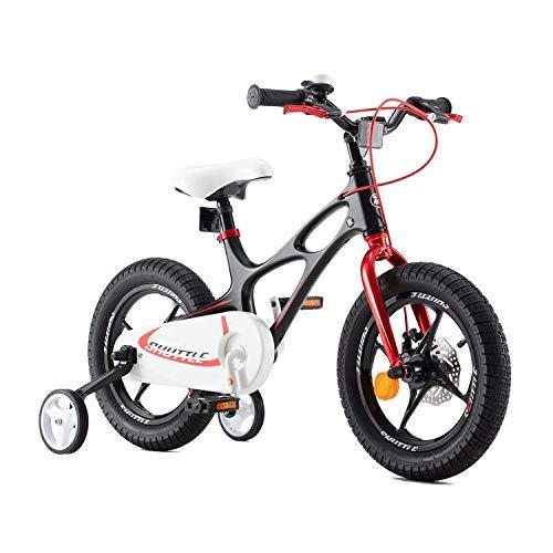 RoyalBaby bicicletta per bambini ragazza ragazzo Space Shuttle Bici Bicicletta da bambino in magnesio 14 pollici nero