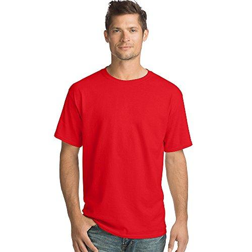 Hanes Mens 5.2 oz. ComfortSoft Cotton T-Shirt (5280) Athletic red l