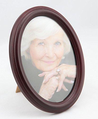 IDEAL Oval Bilderrahmen 13x18 cm 15x20 cm 20x30 cm Porträt Bilder Foto Rahmen: Farbe: Mahagoni | Format: 15x20