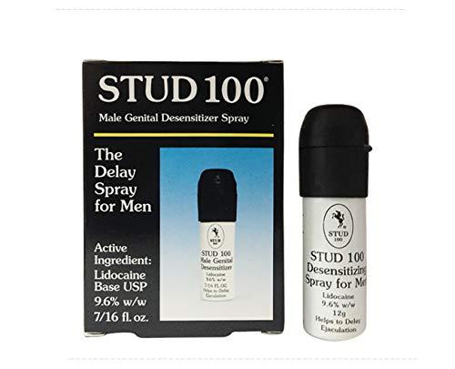 Stud 100 Male Genital Desensitizer Spray, Men delay Cream 60 Minutes Long (Pack of 6