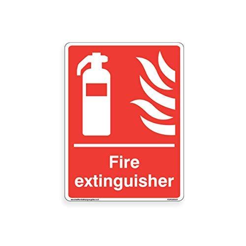 brandblusser teken - brand apparatuur borden Stickers zelfklevende Vinyl waarschuwing Stickers voor eigendom voor werkplek voor kantoor, huis, 200 mm x 300 mm