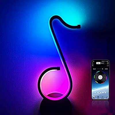 Amazon - 60% Off on Table-Wall Modern-Lamp Music-Dimmable RGB-LED – RGBIC Musical Note