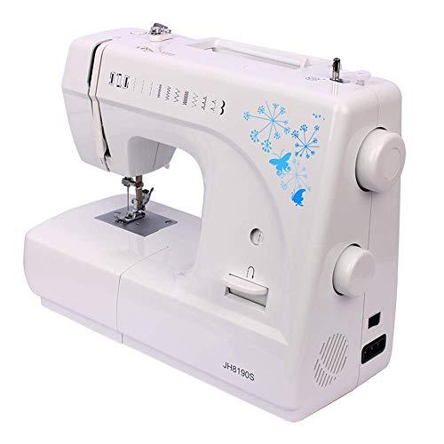 Máquina de Coser, Máquina de Coser La Mejor máquina de Coser para Principiantes máquina de Coser eléctrica de Escritorio Familiar 12 Puntos Sastre doméstico Pedal de pie