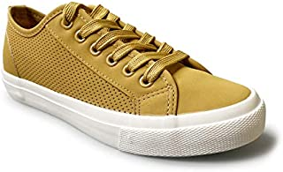 Emma Shoes Womens Lace Up Perforate Sneakers