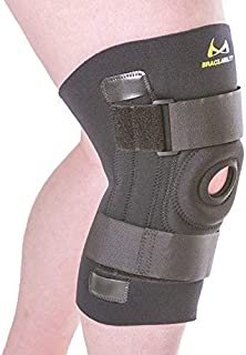 BraceAbility Knee Brace for Large Legs and Bigger People with Wide Thighs | Kneecap Protection Pad Treats Patellar Tendonitis, Chondromalacia, Patellofemoral Pain, Instability & Dislocation (XL)
