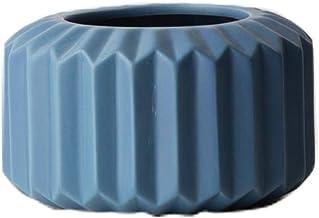 Ceramic Vase Blue Creative Origami Porcelain Vase Decorative Home Furnishings Flower Pot|Container Flower Bottle (Color : ...