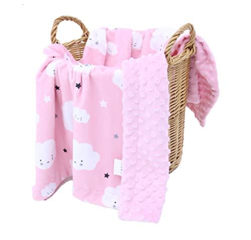 KlassMi Babydecke Mädchen rosa sehr weiche und flauschige Kuscheldecke für Ihr Baby Krabbeldecke Puckdecke Erstlingsdecke Spieldecke Geschenk zur Geburt Erstausstattung