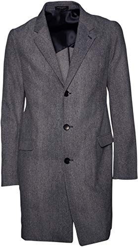 BRUUNS BAZAAR Herren Mantel strukturiert in Grau-Blau 52 / XL
