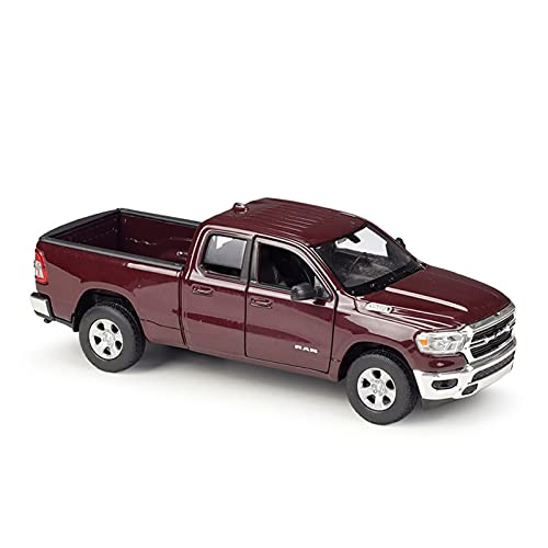 Miniaturowy samochód odlewany Model Samochodu Kolekcja Samochodów Ze Stopu Zabawka 1:24 Oryginalny Dla Dodge 2019 RAM 1500 Zabawka Diecast Car (Kolor : Brown)