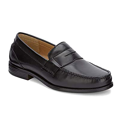 Dockers Mens Colleague Dress Penny Loafer Shoe, Black, 9.5 M