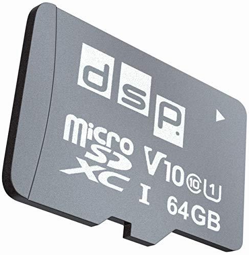 DSP Memory 64GB MicroSD 5.0 SDXC Speicherkarte, C10, U1, V10 + SD-Adapter bis zu 100 MB/Sek