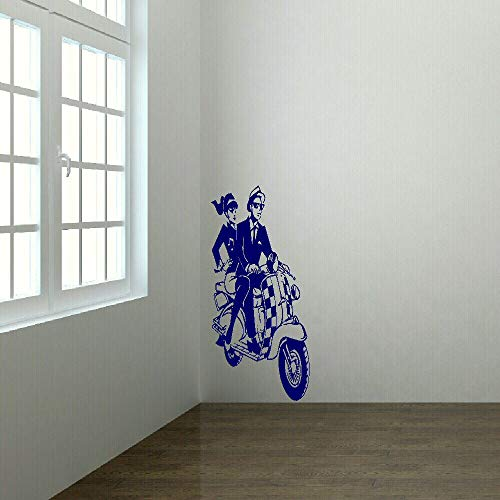 zhuziji Big Wall Stickers Scooter Mural Mural Neue Vinyl Transfer Wallpaper hauptdekoration 46x100cm