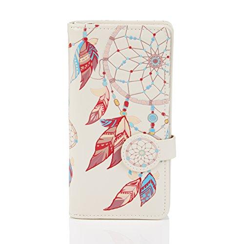 SHAGWEAR ® Portemonnaie Geldbörse Damen Geldbeutel Mädchen Bifold Mehrfarbig Portmonee Designs: (Traumfänger/Dreamcatcher)