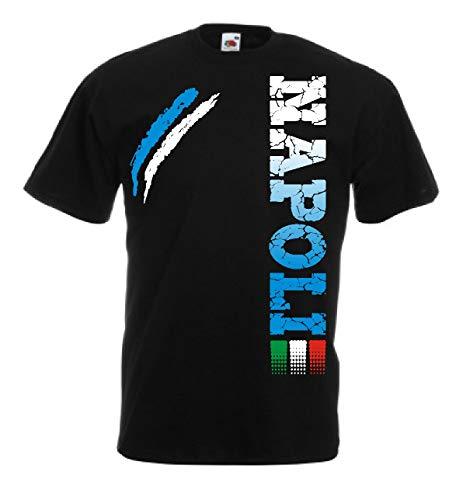 Generico t-Shirt Napoli Tifosi Ultras Calcio Sport dalla S alla 3XL e 4 Colori Disponibili(L, Nero)