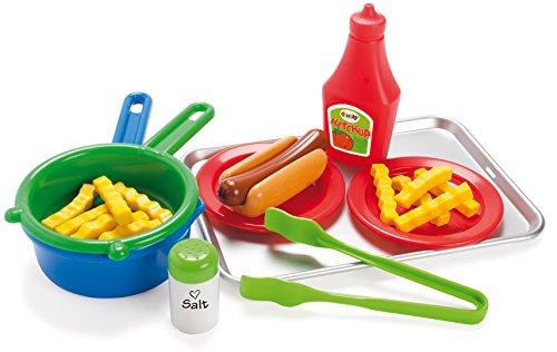 15 TLG Hot Dog Set für Spielküche Lebensmittel und Zubehör