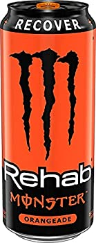 Monster Rehab Energy Drink Orangeade 15.5-Ounce Cans  Pack of 12