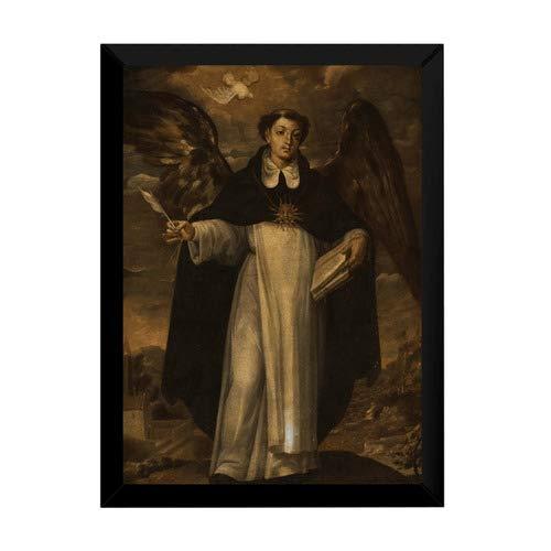 Quandro Arte Pinrura Tomas De Aquino Doutro Angelico 42x29