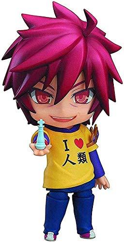 XFHJDM-WJ Modelo Anime Toy Alrededor de 4 Pulgadas Nendoroid no Game no Life: Sora Nendoroid Figura de acción-0127