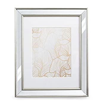 11x14 Mirrored Picture Frame - Matted to 8x10 Frames by EcoHome
