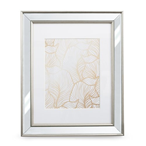 11x14 Mirrored Picture Frame - Matted to 8x10, Frames by -