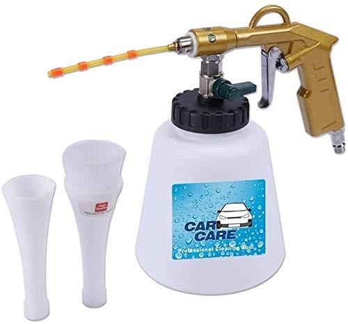 Leilims Auto-Luft-Reinigungspistole Auto-Innenwaschpistole Hochdruckreiniger Ausrüstung mit Düsen Sprayer Schaum Flaschenreinigung Zubehör (Farbe: Gold)