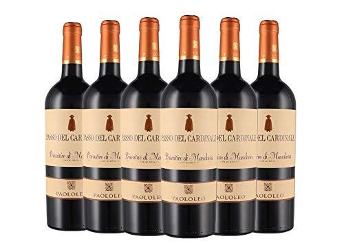 Primitivo di Manduria DOC Passo del Cardinale box da 6 bottiglie Paolo Leo 2018 0,75 L