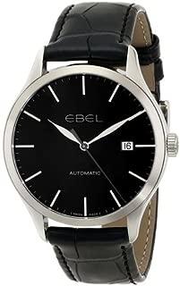 エベル EBEL Men's 1216089 Ebel 100 Stainless Steel Watch with Black Leather Band 男性 メンズ 腕時計 【並行輸入品】