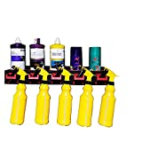 Spray Bottle Rack Air Tool Holder Wall Control Pegboard Spray Aerosol Can Rack Organizer With Attractive And Rust Aesistant And 5 Holes And 5 Plastic Hanging Hooks Auto Cleaning Detailing Tools Hanger