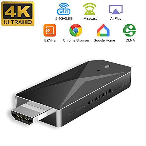YEHUA WiFi Display Dongle 4K, HDMI Wireless Display Empfänger 5G / 2,4G Miracast Dongle Streaming TV Stick Apoyo Airplay DLNA Miracast für iOS Android / Windows / Mac