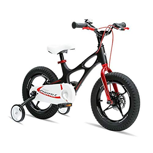 New Bicicletas Infantiles Kids Bike Youth Stunt Scooter Bike Removable Stabilizer 14/16 Inch Teen Push Scooter (Color : Black, Size : 14inch)