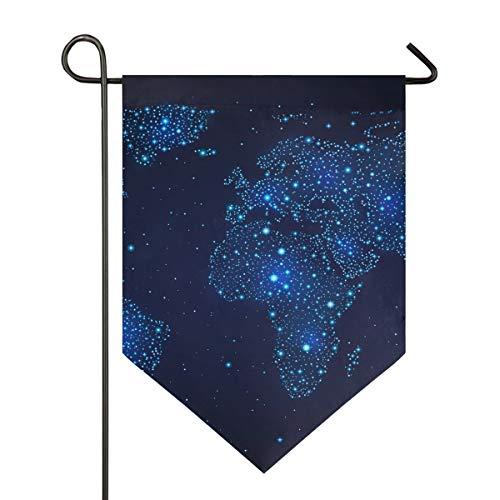 REFFW para decoración de césped al Aire Libre Banner de jardinería de Doble Cara Azul Dreamy Star Map Sky Garden Flag Mount Home