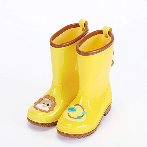 LUFKLAHN Karikatur-Kind-Regen-Aufladungen, rutschfeste Gummischuhe, Kinderschuhe Wasser (Color : D, Size : 22cm)