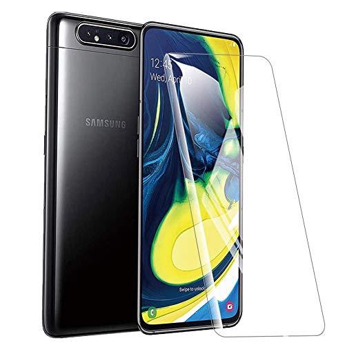 NUPO [2 Stück] Panzerglas folie für Samsung Galaxy A90/A80, 9H Festigkeit Panzerglas Folie, HD Bildschirmschutzfolie/Panzerfolie, 2.5D Tempered Glas Schutzglas, Handy Hartglas Schutzfolie für Galaxy A80/A90