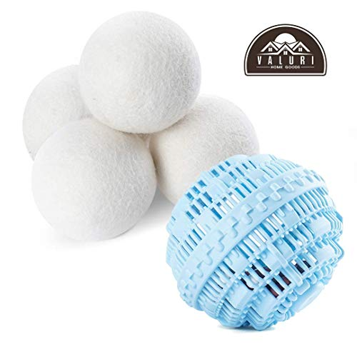 Laundry Dryer Balls for Washing Machine, Eco Friendly Wool Dryer Ball and Laundry Ball with Beads, Dryer Balls Laundry Perfect Perfect Alternative to Laundry Detergent - Bonus Wool Dryer Balls Organic