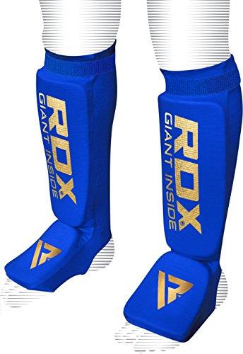 RDX Schienbeinschoner Schienbeinschutz mit Fußfortsatz für Kampfsport Abbildung 2