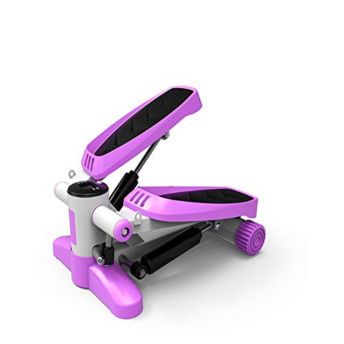 New Fitness Equipment Multi-Function Stepper Household Mini Hydraulic Stepper Exercise (Color : Purp...