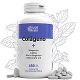 Colágeno Hidrolizado XXL 450 COMP (6 meses) para Articulaciones, Piel, Pelo, Músculos, sistema inmunológico y más Energía | Potenciado con Magnesio, Vitamina C, Vitamina D, Calcio, Silicio Orgánico