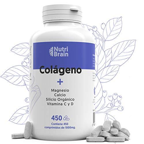 Collagene Idrolizzato XXL 450 COMP per Articolazioni, Pelle, Capelli, Muscoli, sistema immunitario e più Energia | Arricchito con Vitamina C, Vitamina D, Calcio, Magnesio, Silicio Organico