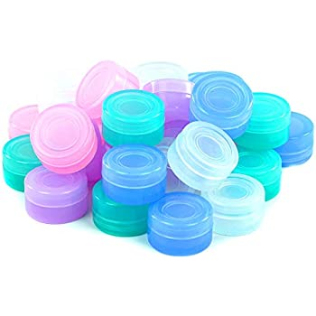 Silicone Container YHSWE 10pcs Silicone 5ml Container Non-stick Oil Multi Use Storage Jar Assorted Random Color