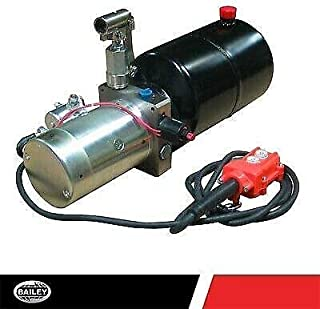 SPX Hydraulic Power Unit 8 Qt : 1.5 GPM Flow 12V DC, Double Acting Tank Poly @2000 PSI #6 SAE Port Size and Solenoid Operated with HPU Dimensions:25.5 L x 7.75 W x 8.5 H